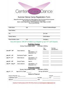 2017 Summer Camp Registration Form